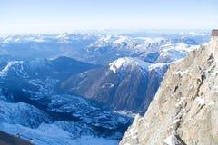 Chamonix od Aiguille du Midi Obraz Stock