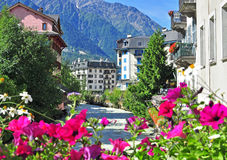 Chamonix old town. Savoy, France stock image