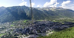 Chamonix panorama Stock Photo