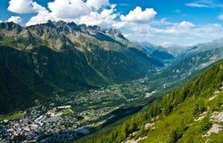 Chamonix panorama Stock Image