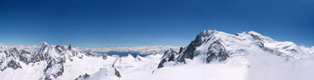 Chamonix. Panoramic view of Chamonix - Mont Blanc royalty free stock images