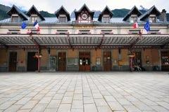 Chamonix railway station, France Stock Photo