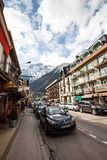Chamonix shopping street, France Royalty Free Stock Images