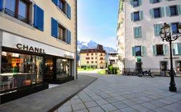 Chamonix shopping street Stock Images