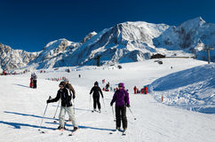Chamonix skidar semesterorten Arkivfoton