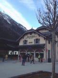 Chamonix station Royalty Free Stock Image
