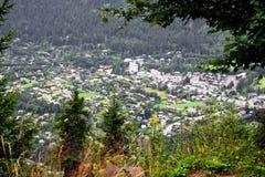 Chamonix-Tal in den französischen Alpen Stockbild