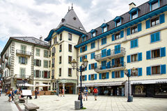 Chamonix town, France Royalty Free Stock Photos