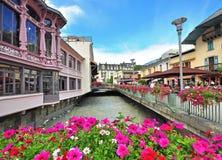 Chamonix town, France Stock Image
