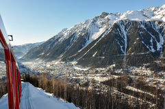 Chamonix Valley in the French Alpes, France Stock Image