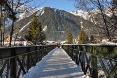Chamonix Valley in the French Alpes, France Royalty Free Stock Photo