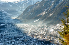 Chamonix Valley in the French Alpes, France Royalty Free Stock Image