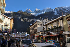 Chamonix Valley in the French Alpes, France Royalty Free Stock Images