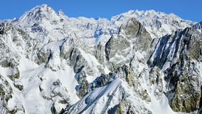 Chamonix valley mountains aerial view Stock Images