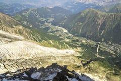 Chamonix, vista aerea Immagini Stock
