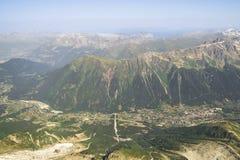 Chamonix, vista aerea Fotografia Stock