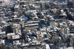Chamonix in winter Royalty Free Stock Photography