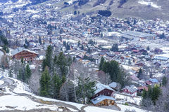 Chamonix in winter Royalty Free Stock Photography