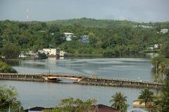 Chamorro Bay. A view of Chamorro Bay on the island of Yap, Federate States of Micornesia Stock Photo