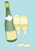 Champán stock de ilustración