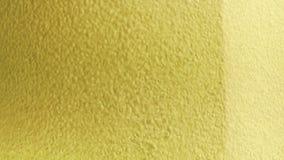 Champán burbujea dentro de una flauta, fondo del oro metrajes