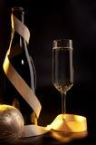 Champán chispeante del Año Nuevo Foto de archivo libre de regalías