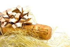 Champán con la decoración de oro Imagen de archivo libre de regalías