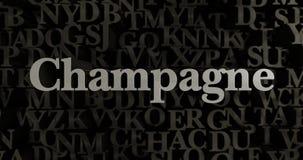 Champán - 3D rindió el ejemplo compuesto tipo metálico del título libre illustration