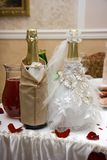 Champán de la boda Imagenes de archivo