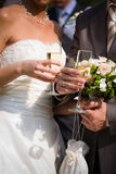 Champán de la boda Foto de archivo libre de regalías