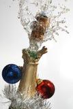Champán de la Navidad Fotografía de archivo