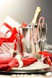 Champán de la Navidad Foto de archivo
