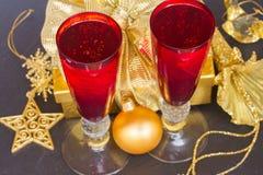 Champán 2012 de la Navidad Foto de archivo