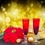 Champán 2012 de la Navidad Imagen de archivo libre de regalías