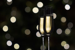 Champán de la tostada, Año Nuevo Imagenes de archivo