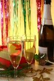 Champán de la tostada del Año Nuevo Imágenes de archivo libres de regalías