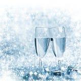 Champán del Año Nuevo Fotografía de archivo libre de regalías