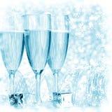 Champán del Año Nuevo Fotografía de archivo