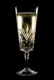 Champán enfriado en el vidrio cristalino Imagen de archivo libre de regalías