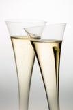 Champán o vino espumoso en vidrio del champán Fotografía de archivo