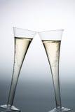 Champán o vino espumoso en vidrio del champán Fotos de archivo libres de regalías