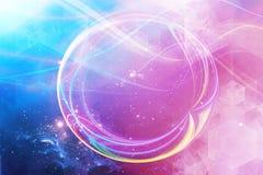 Champ abstrait artistique d'énergie sur un fond galactique multicolore illustration stock