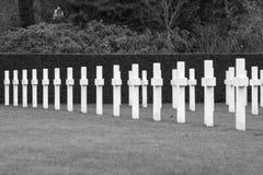 Champ américain Belgique Waregem de la Flandre de cimetière de Première Guerre Mondiale Images stock