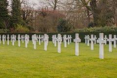 Champ américain Belgique Waregem WW1 de la Flandre de cimetière image stock