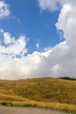 Champ coloré dans les montagnes à la saison d'automne Photographie stock libre de droits