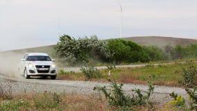 Champ d'éoliennes d'essai spécial de rassemblement de delta de Danube clips vidéos