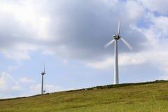 Champ d'éoliennes de Penrhyddlan et de LLidiartywaun photographie stock