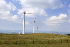 Champ d'éoliennes de Penrhyddlan et de LLidiartywaun photo stock