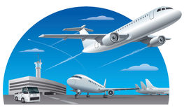 Champ d'aéroport illustration stock