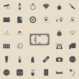champ d'icône de basket-ball de rue Ensemble détaillé d'icônes minimalistic Signe de la meilleure qualité de conception graphique Photos stock